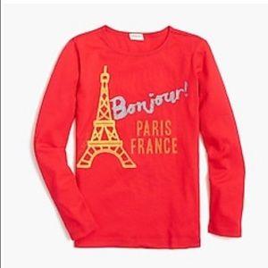 Crewcuts Girls Long-Sleeve Bonjour Keepsake Shirts